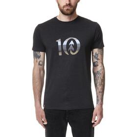 tentree Spruce Stripe Ten T-Shirt Men meteorite black heather